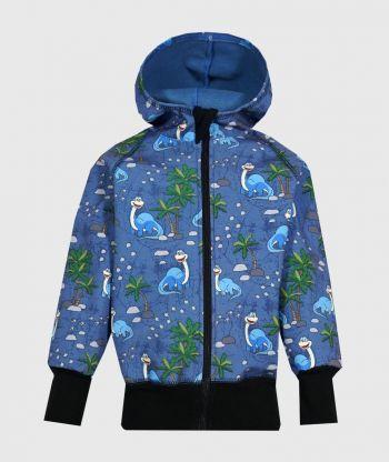 WATERPROOF SOFTSHELL HOODIE JOYFUL DINO BLUE