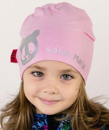 Baggy Hat Reflex Panda Pink